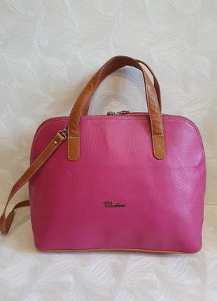 Кожаная сумка valentina