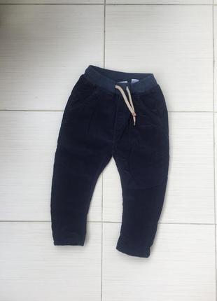 Вельветові утеплені штани для хлопчика