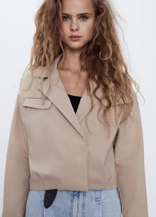 Укороченый пиджак рубашка
