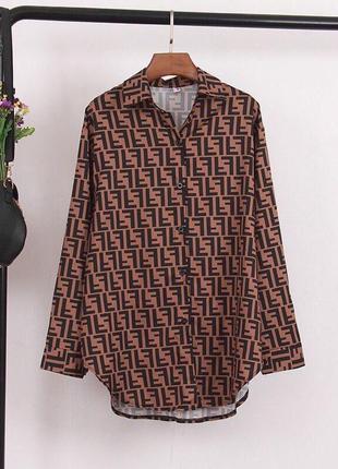 Модная рубашка fendi