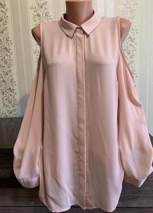 Нежная блуза с открытыми плечами 🌸