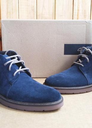 Стильные замшевые дезерты новые удобные ботинки clarks soft cushion оригинал