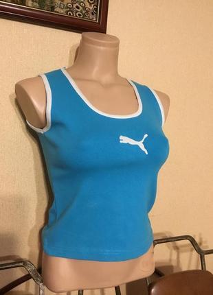 Фирменная спортивная майка футболка кроп топ хлопок puma
