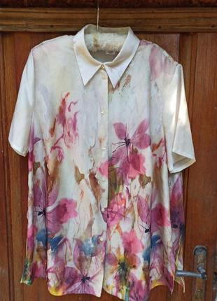 Акварель винтаж mona блуза рубашка