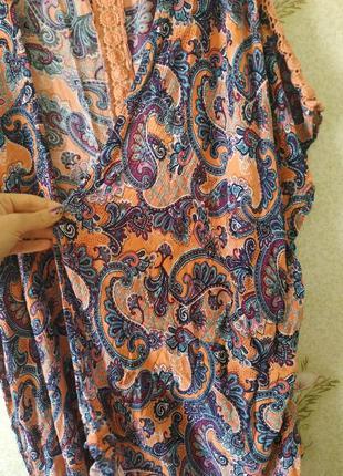 Женская накидка кимоно большой размер 💯 вискоза