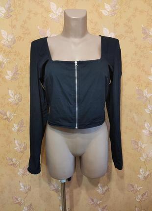 Топ, накидка, рубашка, блузка с молнией спереди