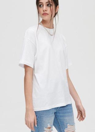 Базовая белая футболка 100% хлопок от fruit of the loom