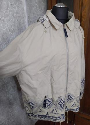 Куртка ветровка большого размера