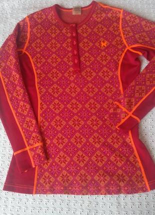 Термореглан шерсть мериноса kari traa термобілизна термобелье шерстяное термо merino wool