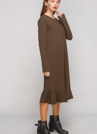 Zara платье с длинным рукавом, хаки, оливка, casual, сукня