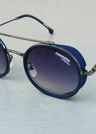 Carrera очки женские солнцезащитные круглые синие линзы бензин зеркальные