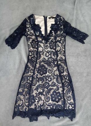 Кружевное платье xs/s