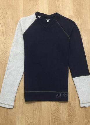 Armani jeans шерстяной свитер джемпер made in italy