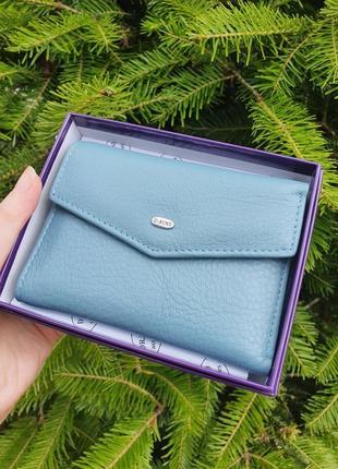 Компактний шкіряний жіночий гаманець, кошельок dr.bond