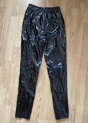 Латексные виниловые глянцевые лаковые штаны брюки