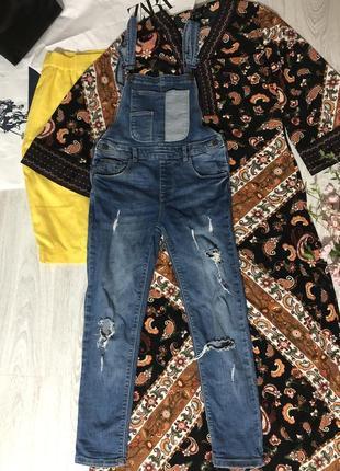 Классный джинсовый комбез zara!