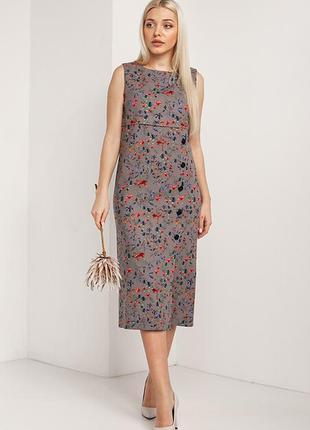 Лляне плаття в квітковий принт