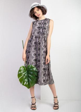 Платье с анималистичным принтом