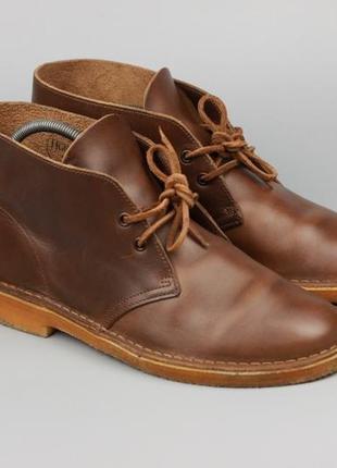 Брендовые кожаные дезерты ботинки clarks desert boots originals horween leather