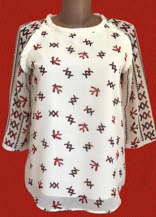 Дорогая ♥️♥️♥️ шифоновая блузка с хлопком maison scotch.