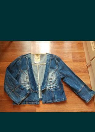 Пиджак джинсовый,жакет,курточка котоновая xl,піджак джинс