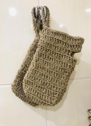 Мочалка -рукавичка из джута