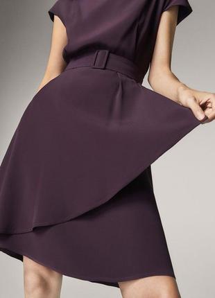Платье massimo dutti с поясом на талии