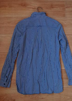 Снизила цену topshop рубашка в синюю полоску 12- размера2