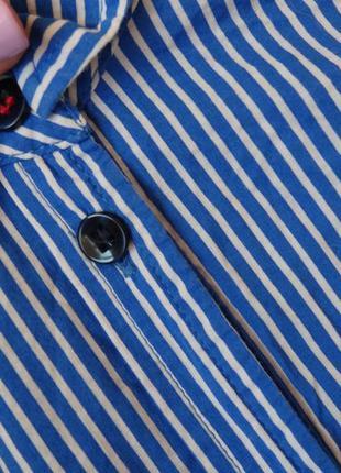 Снизила цену topshop рубашка в синюю полоску 12- размера3