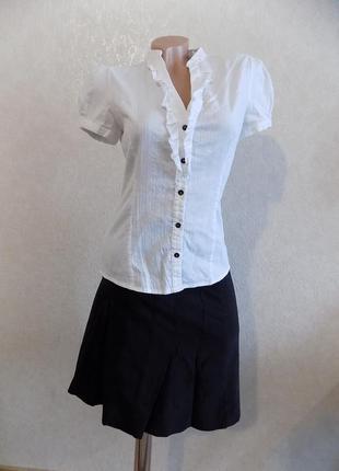 Юбка миди стрейчевая черная фирменная biaggini размер 44-46
