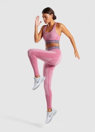 Спортивный комплект gymshark flex dusky pink