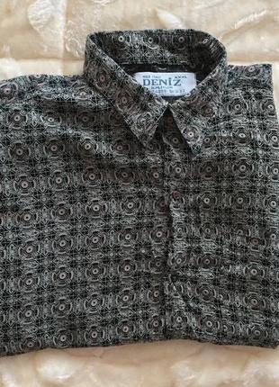 Мужская рубашка с коротким рукавом легкая тенниска
