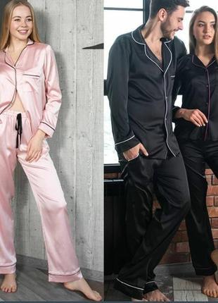 Пижама атласная верх/ рубашка la senza