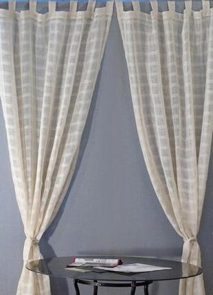 Ткань для пошива тюли, штор, занавесок 100% лен