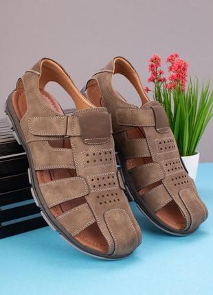 Мужские сандалии на липучках 🐍