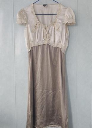 Винтажное шелковое платье gianfranco ferre