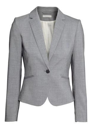 Серый новый  пиджак  от h&m