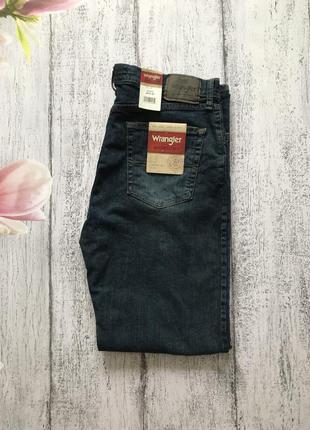 Крутые прямые джинсы стрейч wranglers размер m-l