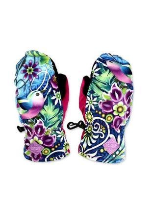 Теплые и удобные варежки краги рукавицы