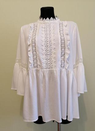 Белая блуза 16 р.