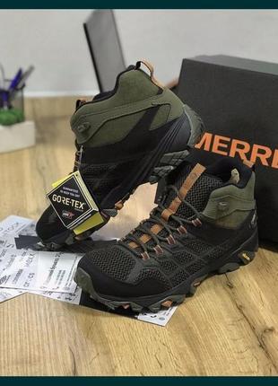 Трекинговая обувь оригинал ботинки merrell moab fast 2 mid защита:gore-tex (j77489)