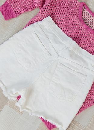 Шорты джинсовые белые с супер коттона