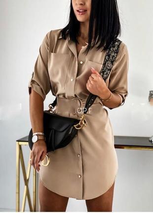 Рубашка туника мокко женская