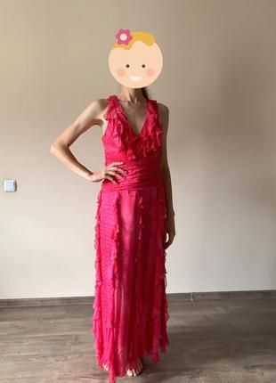 Шикарное коктейльное платье в пол