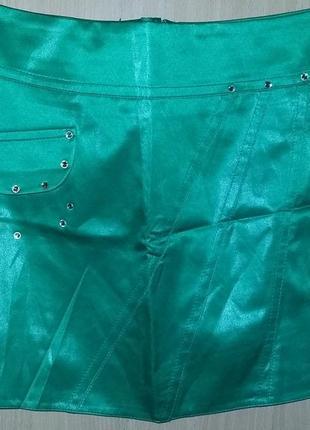Юбка мини летняя зелёная