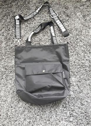 Новая стильная женская сумочка с белыми надписями на ручках!