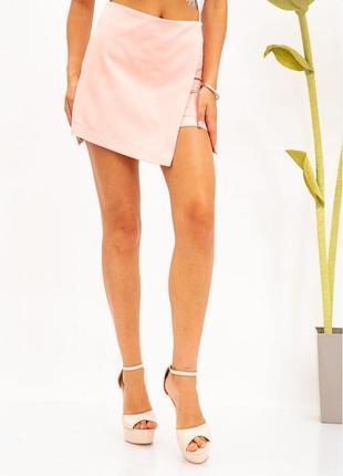 Женские юбка-шорты цвет пудровый айвори размер с м