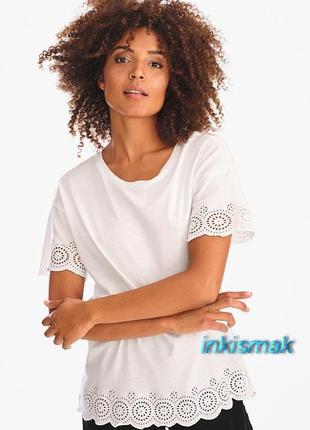 Модал блуза футболка ажурная вышивка c&a германия