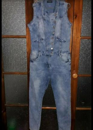 Шикарный комбез iq jeans рр 42(+6)