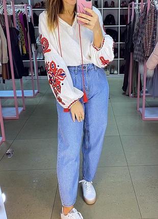 Невероятная блуза белая вышиванка